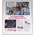 1944 Borden's Hemo Drink Elsie Cow Art Color Print Ad - Pick Up Speed