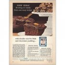 1958 Pet Milk Chocolate Clusters Recipe Color Print Ad