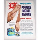 1953 Parkay Margarine Model Nylons Offer Color Print Ad