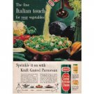1961 Grated Parmesan Cheese Color Print Ad - Italian Touch