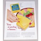 1952 Kraft DeLuxe Cheese Slices Color Print Ad - Easy As Peeling A Banana
