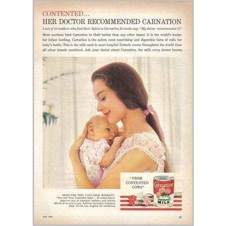 1959 Carnation Evaporated Milk Color Print Ad