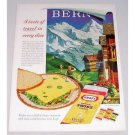 1961 Kraft Natural Swiss Cheese Bern Art Color Print Ad