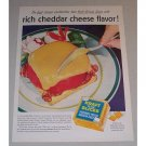 1957 Kraft Deluxe Cheese Slices Color Print Ad