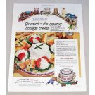 1952 Borden's Cottage Cheese Sunshine Salad Recipe Color Print Ad