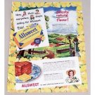 1947 Swift's Allsweet Margarine Country Scene Color Art Print Ad