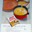 1955 Jello Pudding Pie Filling Lemon Pie Color Food Ad