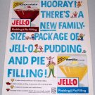 1960 Jello Family Size Pudding Pie Filling Color Print Ad