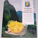1960 Dole Hawaiian Pineapple Fresh Fruit Windward Oah Hawaii Color Print Ad