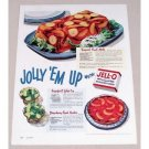 1949 Jello Gelatin Color Print Ad - Jolly 'Em Up
