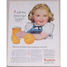 1944 Sunkist Oranges Color Print Ad - Girls Best Friend Is Doc