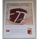 1958 Duncan Hines Devil's Food Cake Mix Color Print Ad