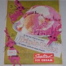1956 Sealtest Ice Cream Triple Treat Bunny Color Print Ad