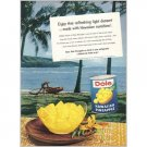 1959 Dole Hawaiian Pineapple Hanauma Bay Oahu Color Print Ad