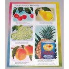 1952 Dole Fruit Cocktail Color Art Print Ad - Grow A Rainbow