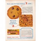 1960 Nestle's Chocolate Morsels Toll House Cookies Color Print Ad