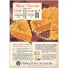 1959 Pillsbury Pie Crust Pumpkin Chiffon Pie Recipe Color Print Ad