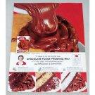 1956 Betty Crocker Fudge Frosting Mix Color Print Ad
