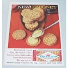 1960 Nabisco Baronet Creme Sandwich Cookies Color Print Ad