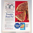 1958 Pillsbury Golden Pie Crust Mix Pumpkin Pecan Color Print Ad
