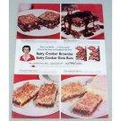 1957 Betty Crocker Date Bar Brownie Mix Color Print Ad