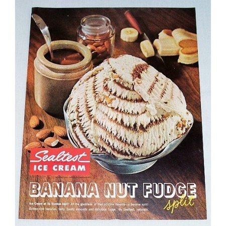 1961 Sealtest Banana Nut Fudge Ice Cream Color Print Ad