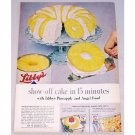 1956 Libby's Pineapple and Angel Food Cake Color Print Ad