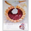 1956 Jello Pudding & Pie Filling Color Print Ad - Perfect Chocolate Pies