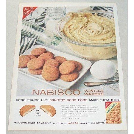 1960 Nabisco Vanilla Wafers Color Print Ad