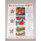 1945 Jello Gellatin Color Print Ad - Make it More And Merrier