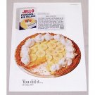 1960 Jello Pudding Pie Filling Banana Cream Recipe Color Print Ad