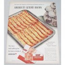 1948 Armour Star Bacon Color Ad - America's Luxury Bacon