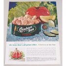 1961 Chicken Of The Sea Tuna Tuna Tomato Cup Recipe Color Print Ad
