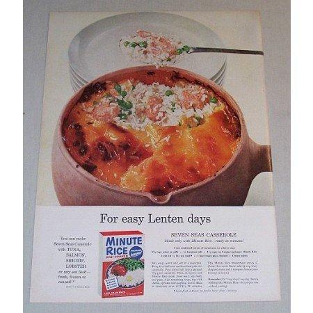 1955 Minute Rice Seven Seas Casserole Recipe Color Print Ad