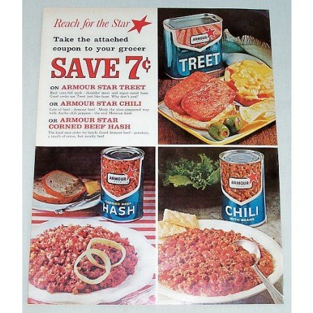 1962 Armour Canned Foods Color Print Ad