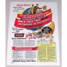1952 Armour Pantry Shelf Meals Contest Color Print Ad