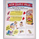 1948 Swift's Peanut Butter Color Print Ad - More Bounce Per Ounce!