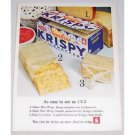 1961 Sunshine Krispy Crackers Color Print Ad - Easy As 1 2 3