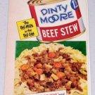 1952 Dinty Moore Beef Stew Vintage Color Food Print Ad