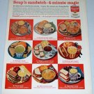 1962 Campbell's Soup Color Print Ad - 4 Minute Magic
