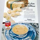 1945 Campbell's Cream Of Mushroom Soup Color Print Ad