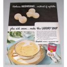 1946 Campbell's Cream Of Mushroom Soup Color Print Ad