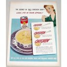 1947 Campbell's Chicken Soup Color Print Ad - Its In Your Spoon