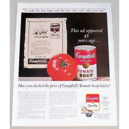 1964 Campbell's Soup Color Print Ad - Ad Appeared 43 Yrs Ago