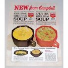1962 Campbell's Cheddar Cheese Split Pea Soup Color Print Ad
