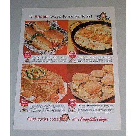 1958 Campbell's Soup Color Print Ad - 4 Souper Ways