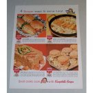 1958 Campbell's Soup Color Print Ad - 4 Souper Ways