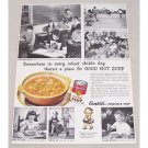 1948 Campbell's Vegetable Soup Print Ad - School Child's Day
