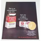 1963 Campbell's Red Kettle Chicken Noodle Soup Mix Color Print Ad