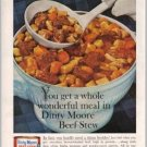 1960 Dinty Moore Beef Stew Color Print Ad - Wonderful Meal
